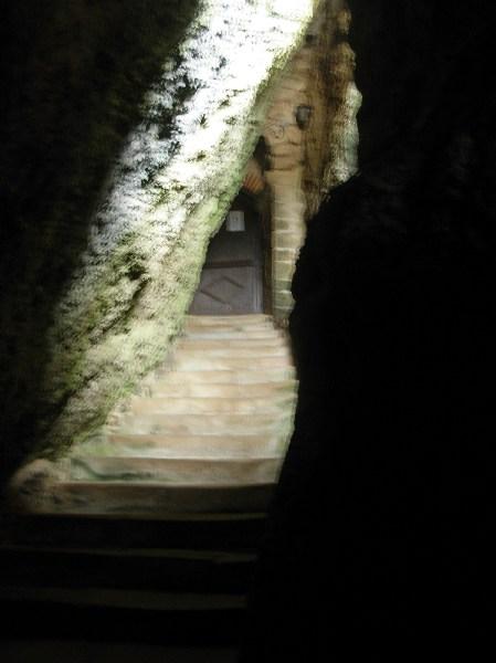 Escalier dans le rocher
