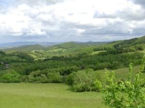 Vue vers le Pic de Bugarach