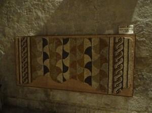 Mosaïque romaine dans l'église